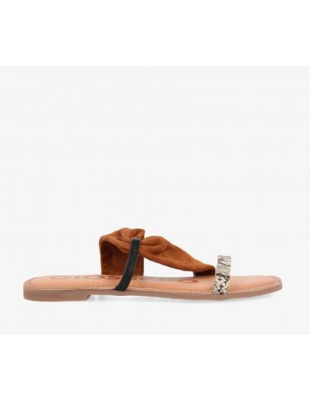 Sandalia Gioseppo Piel Combi lateral