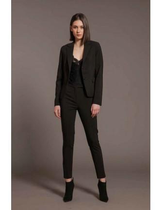 Pantalon Artigli negro pinzas slim fit