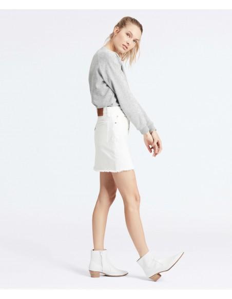 falda levis blanca mujer