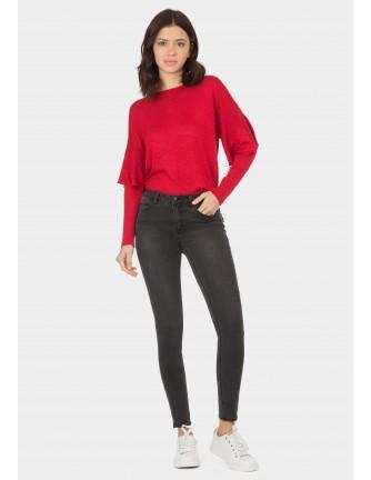 Pantalon Tiffosi negro mujer